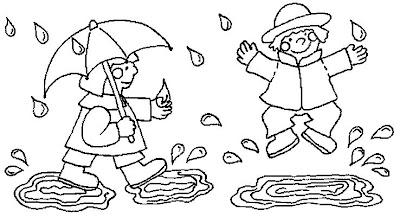 """""""Playing in the Rain"""" Kids Coloring Pages >> Disney ..."""