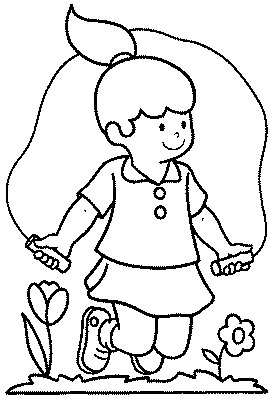 "jump coloring pages for kids | transmissionpress: ""Jumping Rope"" Kids Coloring Pages"
