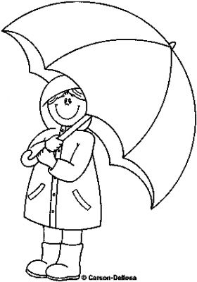 Nengaku Rainy Day Kids Coloring Pages