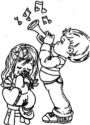 love music notes coloring pages | transmissionpress: Music Notes of Love - Kids Coloring Pages