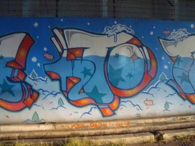 Graffiti Walls Christmas Graffiti Santa Merry X Mast