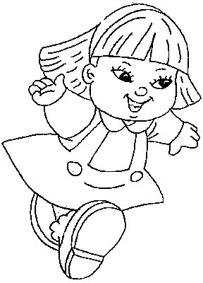 """Kids Coloring Pages """"Little Girl Runs Fast"""" >> Disney ..."""