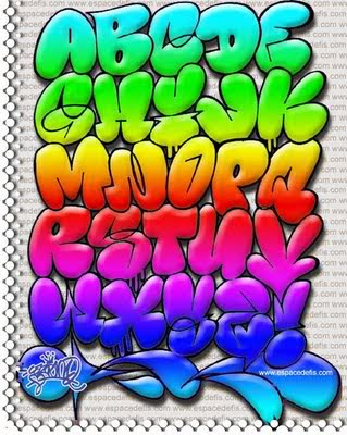 Graffiti Alphabet Throwie. Graffiti Alphabet Bubble