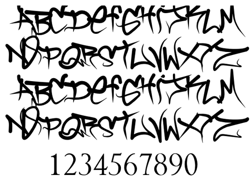 Hairstyle 6 Letters: 16 Types Graffiti Fonts