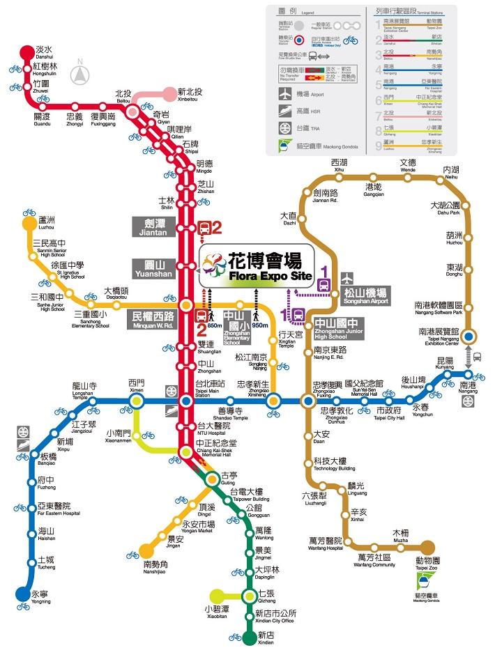 Taipei Tour: 臺北捷運地圖