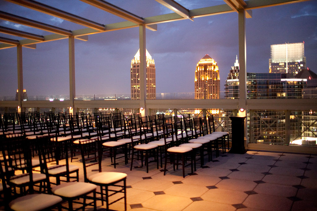 Beautiful Outdoor Wedding Ceremony At Tribeca Rooftop: The Luxe Bride Blog: Rooftop Weddings