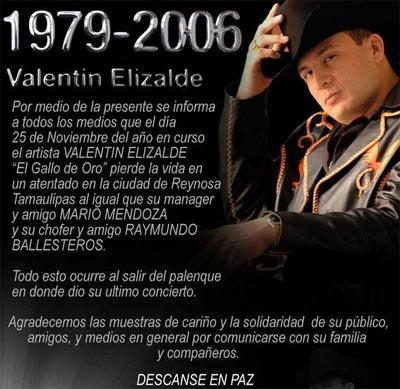 Valentín Elizalde Nació