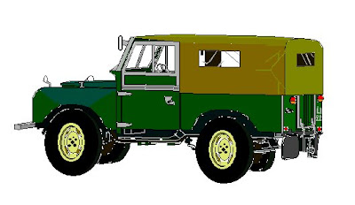 Landrover, digital art by Peter Harris