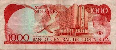 Y Un Dolar Usa Equivale A Unos 558 Colones Sobre Estas Líneas Tenemos 1 000 Rojo Como Se Le Denomina Habitualmente