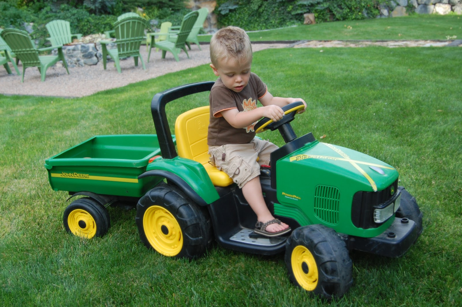 The Friedli Family I Ll Take You For A Ride On My Big Green Tractor