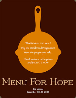 Menu for Hope: Food Bloggers give Back