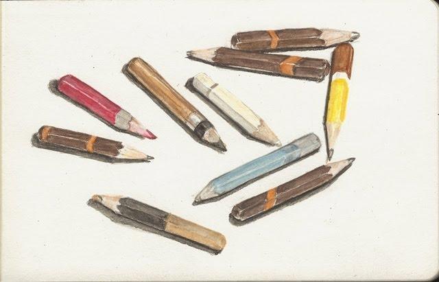 palimpsest post a stub pencil drawing