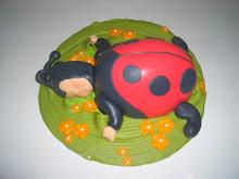 Sleeping ladybug cake