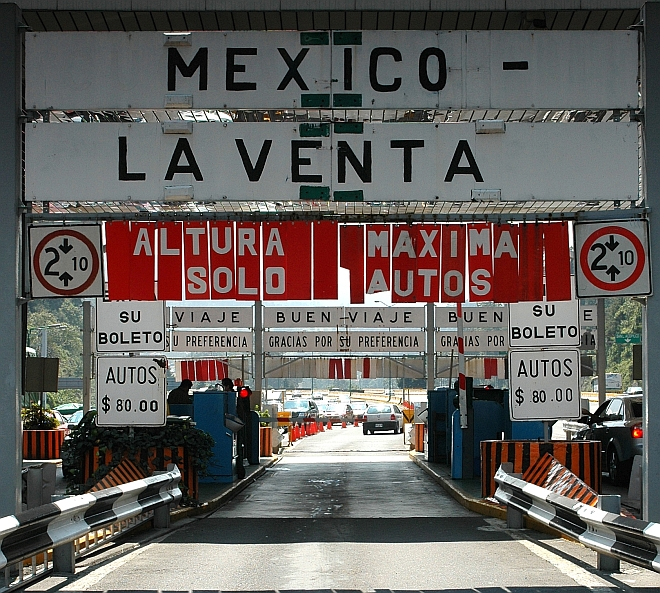 The Mexico - Toluca Toll Road