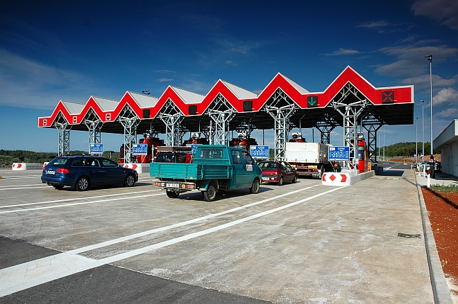 Toll Plaza at the Mirna Viaduct, Croatia