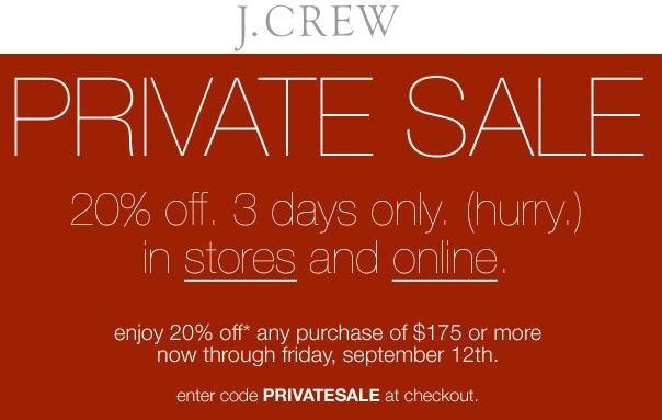 j crew coupon code online
