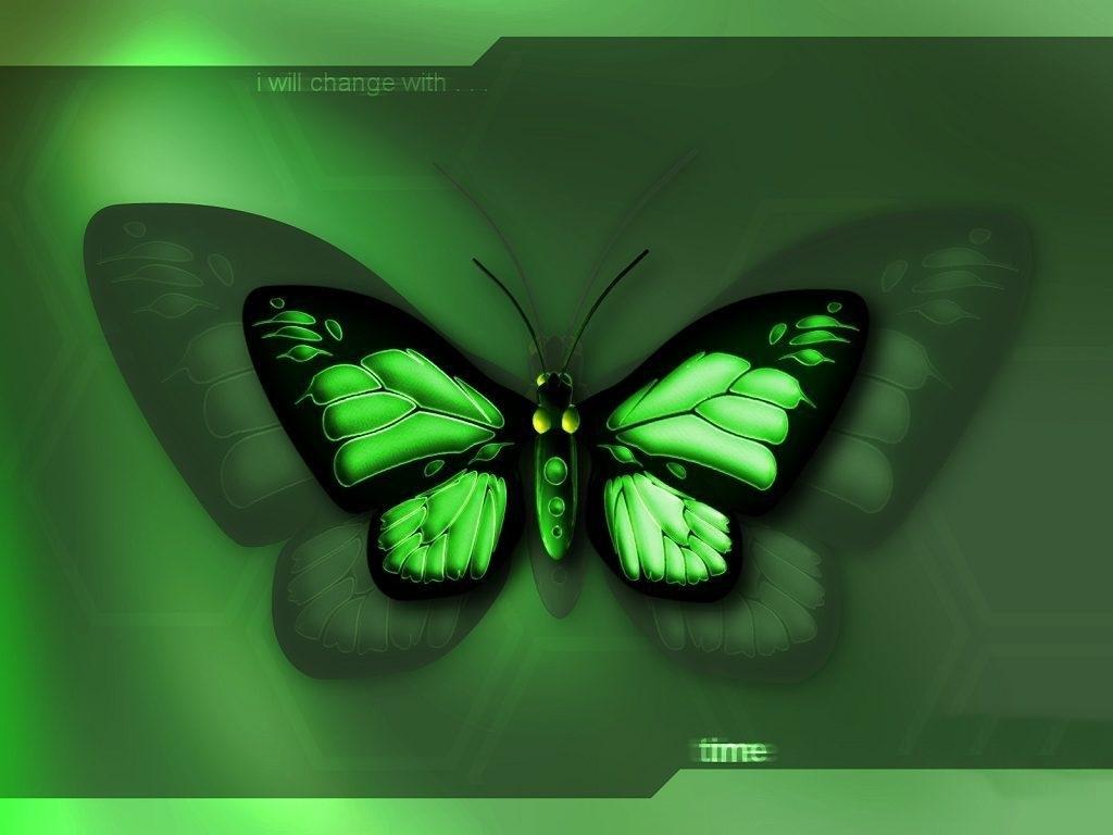 Neon Butterfly Desktop Background: Planos De Fundo E Arte Digital: Planos De Fundo Borboletas