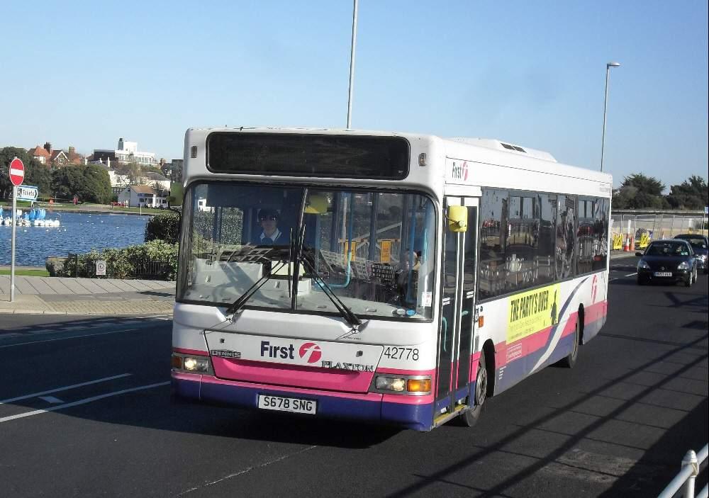 Southern England Bus Scene Portsmouth Dart Slfs