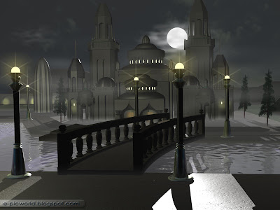 3d mosque model - islamic wallpaper
