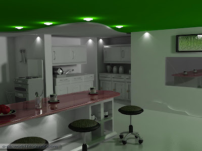 3d kitchen wallpaper