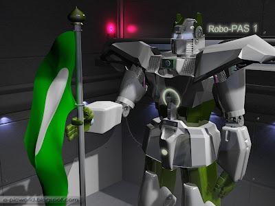 3d robot wallpaper - Robo-Pas 1