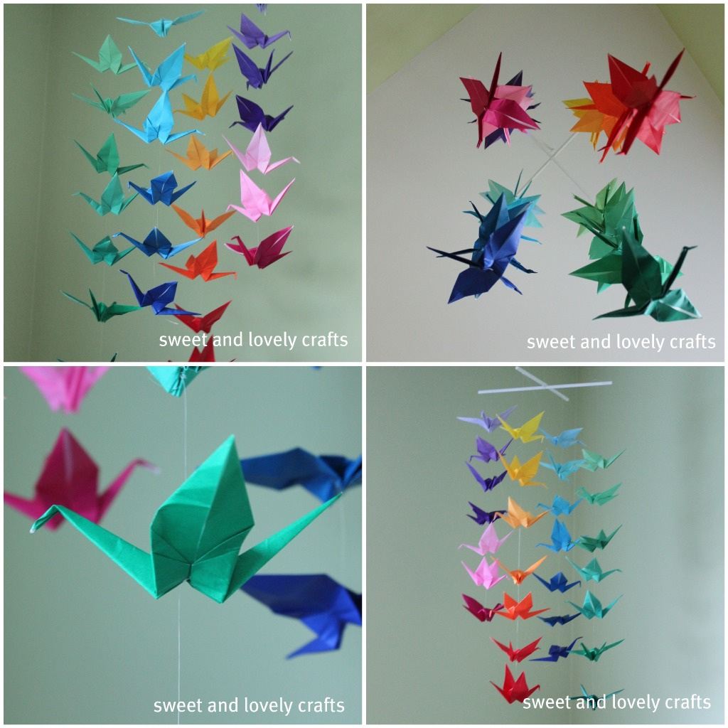 sweet and lovely crafts: origami crane mobile - photo#8