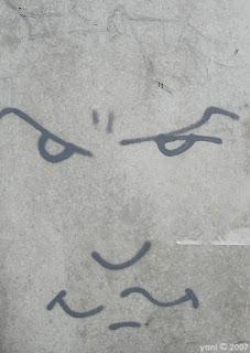 grey face