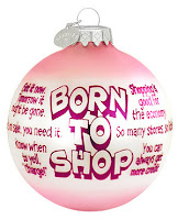 born to shop christmas bauble