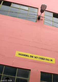 warning: the sky could fall in