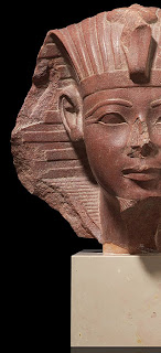 head of a royal sphinx, new kingdom, 18th dynasty