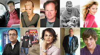 my dream dinner party: stephen fry, pink, joss whedon, howard roffman, drew barrymore, russell t davies, kevin smith, asha gill, kevin mccloud, brent corrigan