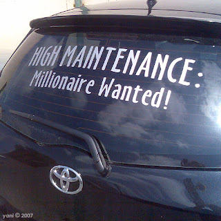 high maintenance: millionaire wanted!