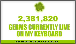 how many germs live on your keyboard?