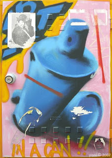street art spray can