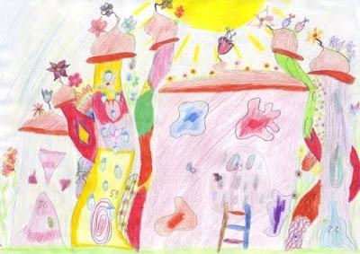 Kinderbild Stadt - Grundschule