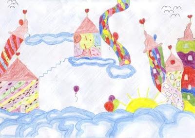 Kinderbild Wolken - Grundschule