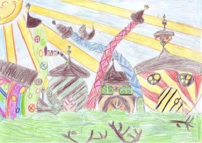 Kinderbild Sonne - Grundschule