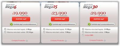 Planes banda ancha VTR