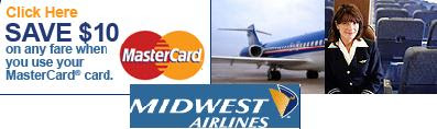 Midwest Airlines Coupon - $10 OFF!