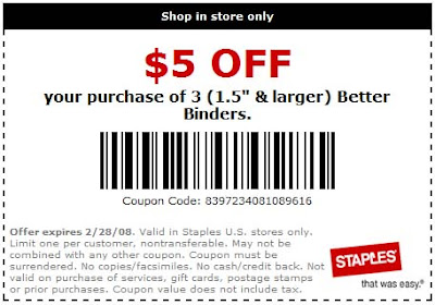 Staples-$5off