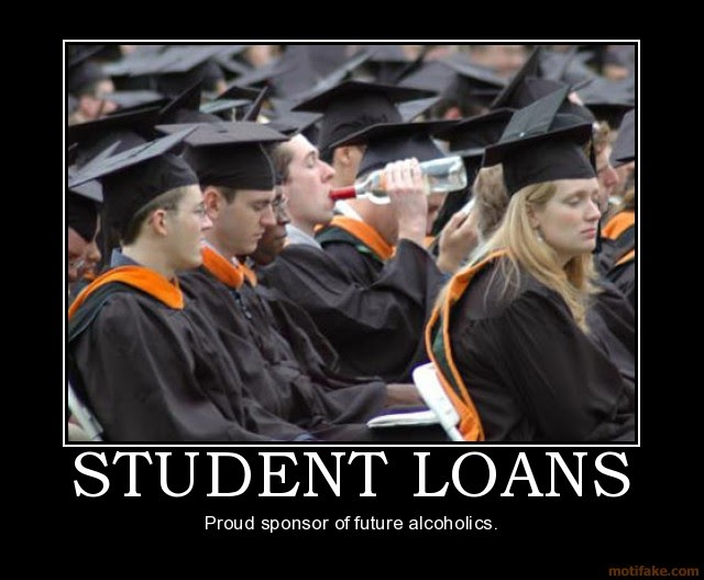Grin And Bare It Quotes: Student Loans Demotivational Poster Demotivational Posters