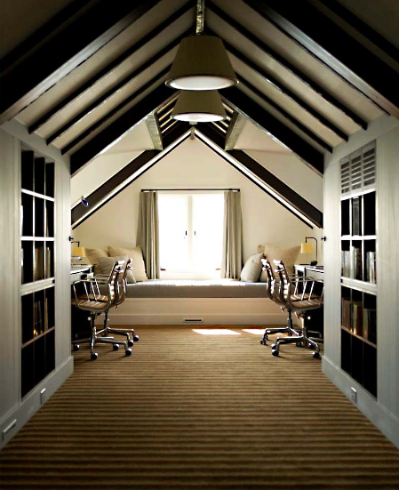 amusing attic loft interior design | CASA TRÈS CHIC: WINDOW SEATS / BANCOS DE JANELA