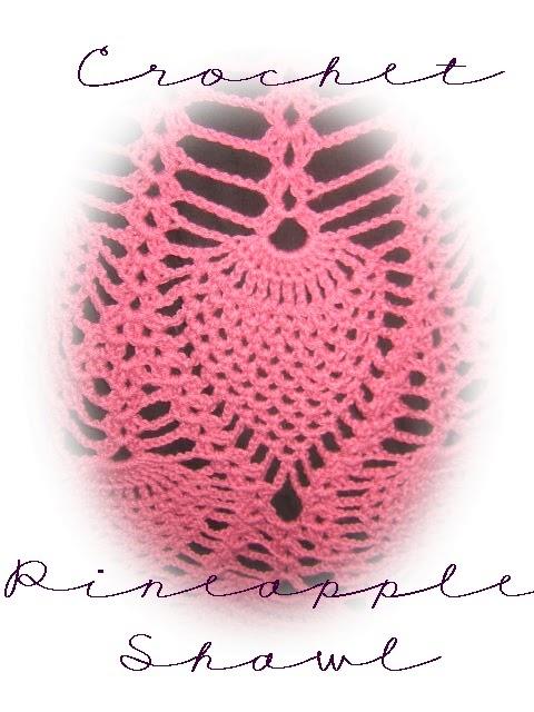 Pattern For Crocheted Pineapple Shawl Easy Crochet Patterns
