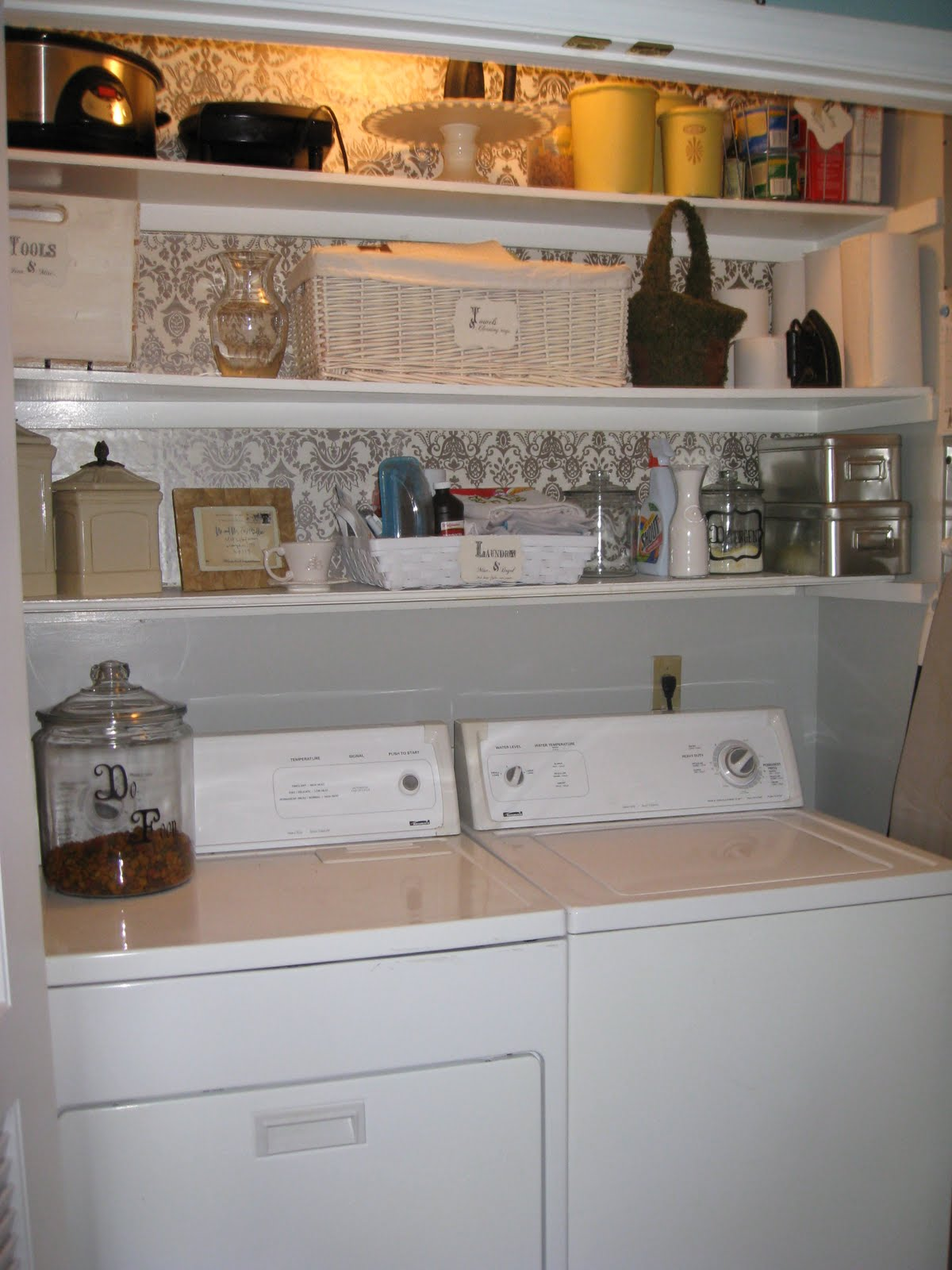 Remodelaholic | Laundry Room Design and Decorating Idea on laundry room diy, laundry room with stackable washer and dryer, laundry room accessories, laundry room signs, laundry room wall ideas, laundry room sayings, laundry room folding shelf, laundry craft room, laundry room sink, laundry room in bathroom, laundry room makeover, laundry room construction ideas, laundry room wallpaper ideas, laundry room drying rack, laundry room design, basement laundry room ideas, laundry room paint schemes, laundry room glass doors, laundry room cabinets, laundry room curtains,