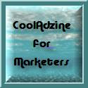 CoolAdzine for Marketers blog 125x125 pixel ad