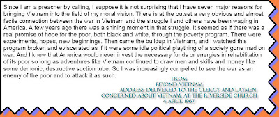 excerpt of Beyond Vietnam Speech