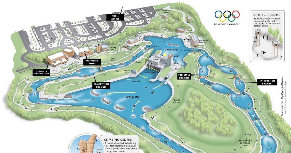 US National Whitewater Center Charlotte NC Facility MapUS US