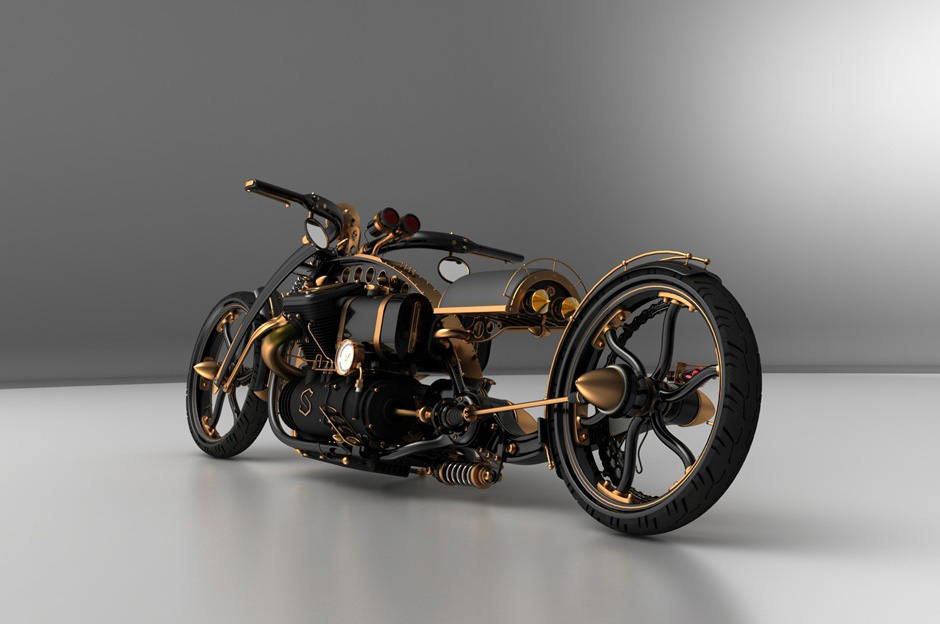 What Does Cts Stand For >> Motorcycle style Steampunk - Black Widow Chopper - Garage Car