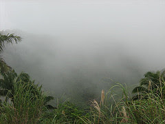 A view from the Transcentral Highway. On a misty day like this, Balamban is hidden from sight.