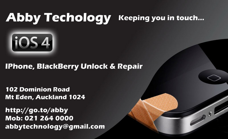 Abby Technology Ltd Iphone 4 Repair Unlock Business Card Design 1 For Le Mobile Phone And Unlocking
